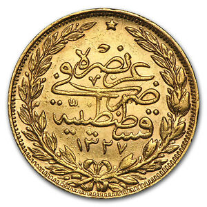 Turkey-Gold-100-Kurush-XF-AU-Random-SKU-50906