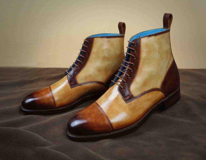 marchi di stilisti economici Men Patina Ankle Dress scarpe handmade stivali custom made made made dress scarpe for men  consegna e reso gratuiti