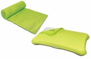 Yoga-Exercise-Mat-Wii-fit-Comfort-Pack-Silicone-Balance-Board-Green-Cover-New