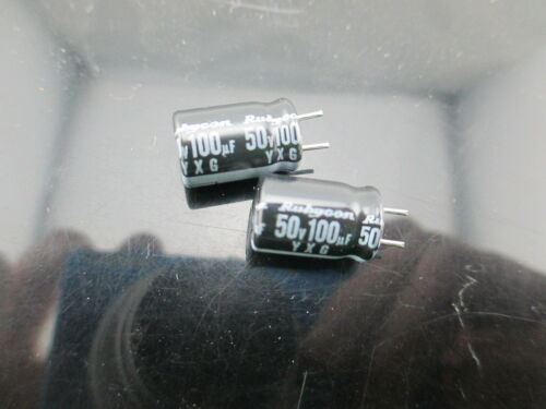 50pcs RUBYCON YXG 100uf 50v 100mfd  electrolytic Capacitor 8*11.5mm 105℃