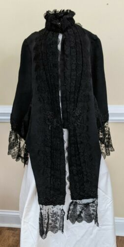 Victorian mourning cape and bonnet