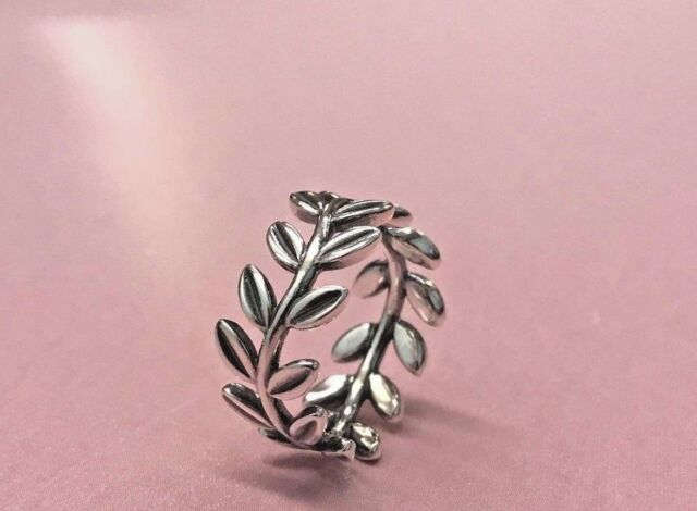 4cdca8045 PANDORA | STERLING SILVER LAUREL WREATH RING *NEW* 190922 AUTHENTIC RARE  RETIRED