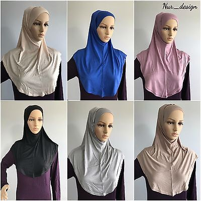 ready jersey Pullover Hijab Wholesale Lot of 12 Amira Cotton Hijab multi colors