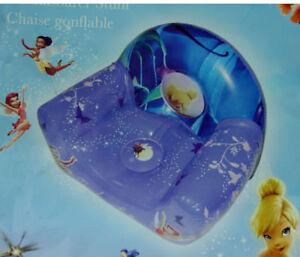Disney Tinker Bell Aufblasbarer Stuhl Sessel ca 56x42 cm mit Reparaturflick<wbr/>en