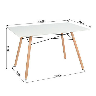 New Arrivals White Modern Home Furniture120 Length Dining Table & 4 Chairs