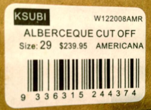 Rrp Au11 Ksubi 29 Off 9336315244374 240 Americana' Us7 Size New 'alberceque Cut Shorts Womens x8n8qrwTHv