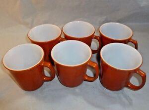Set Of 6 Vintage Pyrex Coffee Mugs