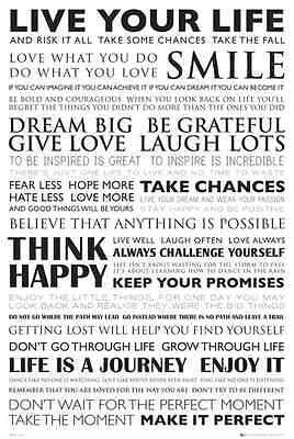 NEW* Live Your Life Wall Poster - Inspirational Posters - smile happy enjoy life
