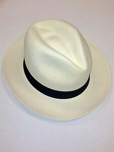 dda2ad9a5 Details about BRANKO PANAMA HAT Original Hand Made in Ecuador Toquilla Straw