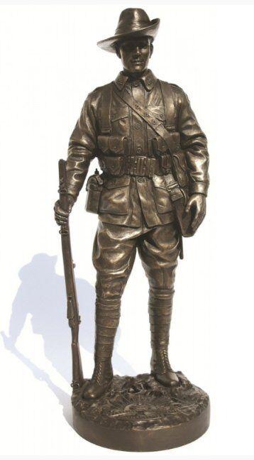 NA0023  BILLY  - Infantryman AIF France, 1918  - Military Statue by Khaki Army