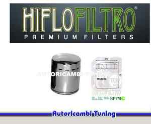 FILTRO-OLIO-HIFLO-HF170C-CROMATO-MOTO-Harley-Davidson-FXRS-Low-Rider-Convertible