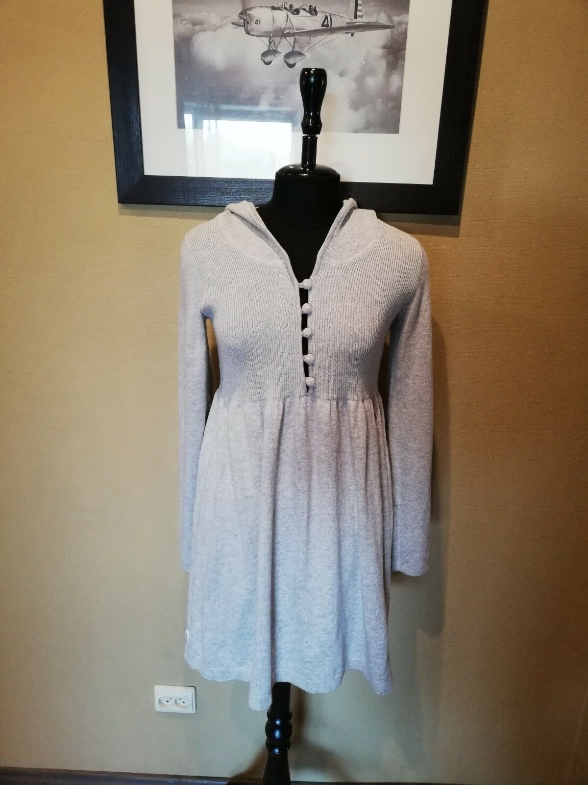 By TiMo womens cotton wool dress sz S-XS Norway designer