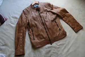 Size Belstaff Leather Brown Jacket 44 8wn8t1zqXx