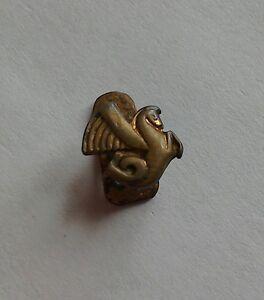 Antique-Vintage-Tiny-Brass-Pegasus-Airline-Aviation-Buttonhole-Lapel-Badge