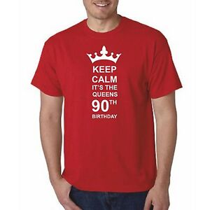 Image Is Loading Queens 90th Birthday Keep Calm T Shirt Mens