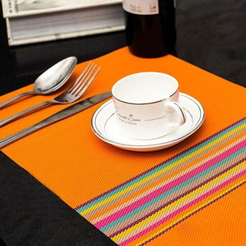 Optional Decoration 4 Colors Table Accessories Home Kitchen Placemat PVC Mat