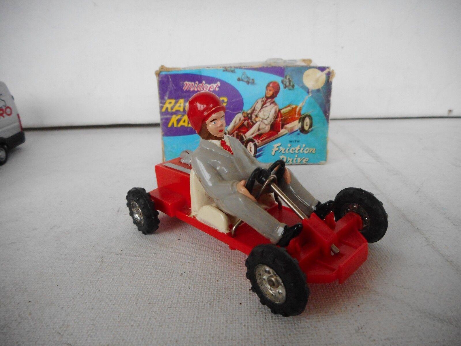 1960's Vintage Midget Racing Kart Marx Toys Hong Kong Vintage  Boxed Rare