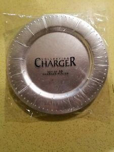... Silver-Paper-Charger-Plates-with-Embossed-Leather-Finish- & Silver Paper Charger Plates with Embossed Leather Finish and Beaded ...