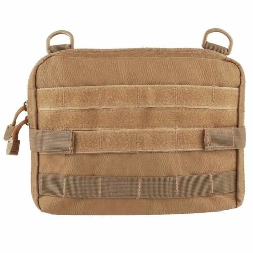 Tactical Large Magazine Organizer EDC Utility Medic Phone Pouch Molle Bags Tan