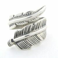 Native American Made Sterling Silver Ring Size Is Adjustable --- R60 A T