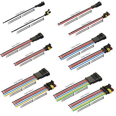 AMP Superseal Set Steckverbinder 3-pol FLRY 1,50² 1500mm Kabel Elektrik KFZ