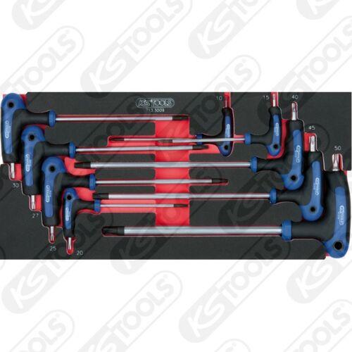 SCS T-Griff-Innensechskant W.stiftschlüssel-Satz 6tlg 1//3 Systemeinlage 713.3009