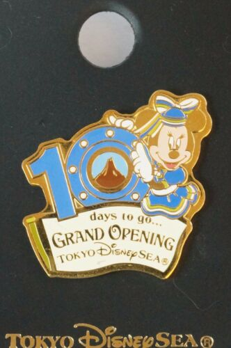 Tokyo Disney Resort Pin Tokyo Disney SEA Grand Opening 10 Days To Go Minnie
