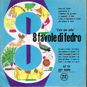 034-C-039-era-una-volta-034-8-FAVOLE-DI-FEDRO-Vinile-33-giri-7-034-BABY-RECORD