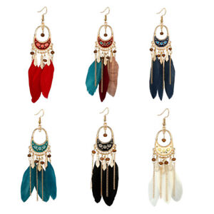 Retro-Bohemia-Feather-Beads-Long-Design-Dream-Catcher-Earrings-For-Women-Jewelry
