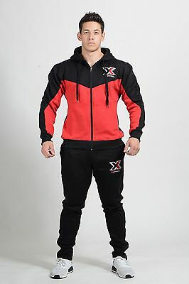 Designer Mens Slim Fit Tracksuit Set Fleece Hoodie Top /& Bottoms Jogging Joggers