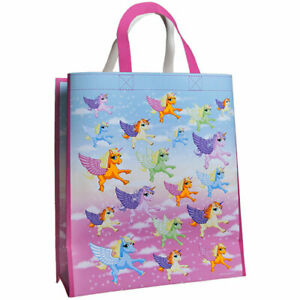 Large Fun Unicorn Land Print Reusable Shopping Tote Bag Ebay