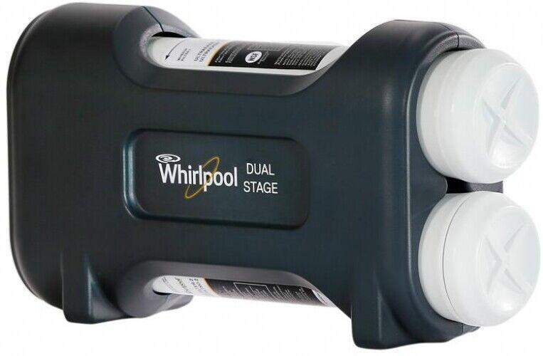 Whirlpool filtration d'eau UltraEase Dual Stage système dédié Chrome Eau