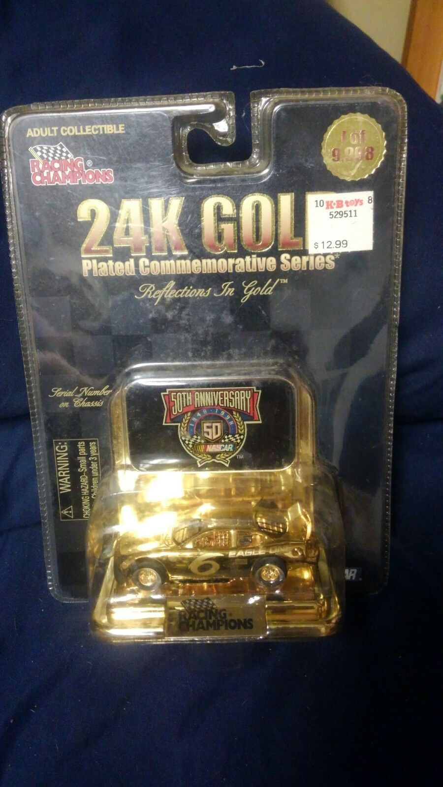 Mark Martin NASCAR Champions gold Plated Commemorative Series 50th Anniversary