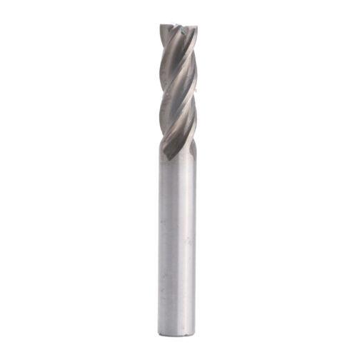 8mm HSS Straight Shank 4-Flute End Mill Cutter CNC Milling Cutting Router Bit