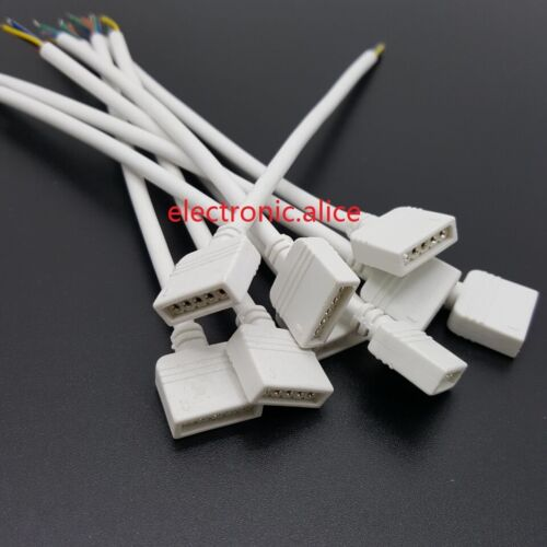 1-50Pairs 5pin to RGBW Male Female connector 15cm wire cable For 5050 RGBW LED