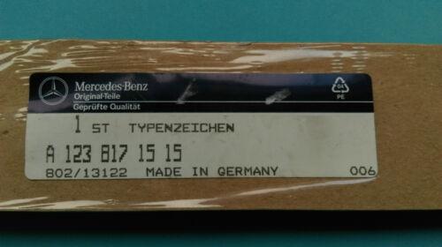 Genuine Mercedes Benz w123 240TD Rear trunk badge logo emblem A1238171515