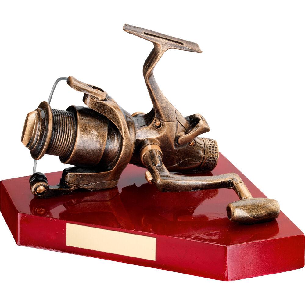 Full Size Fishing Reel Trophy,Award,FREE Engraving (RF300)