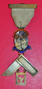 Masonic Past Master's Jewel Cloister Lodge No 6777 silver 1949 London hallmark