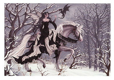 New Chance Encounter Nene Thomas Fantasy Print Fairy Horse Mini Black Dragon