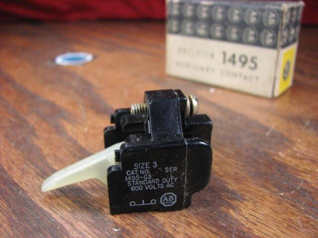 Allen Bradley - Auxiliary Contact Block Early Break Size 3 Aux - 1495-G3 /L
