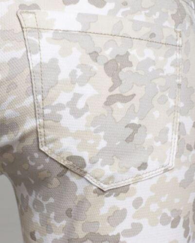 Nwt con 24 Camouflage Camo 88 in Jeans Skinny bianco Nyc stampa Capri XvUppB