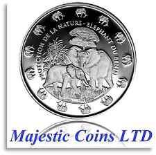 2016 Benin Elephant Protection De La Nature .999 Silver Proof Coin