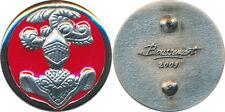 Insigne de col, CUIRASSIERS, fond rouge, argenté, tirage 2009, Boussemart (7635)