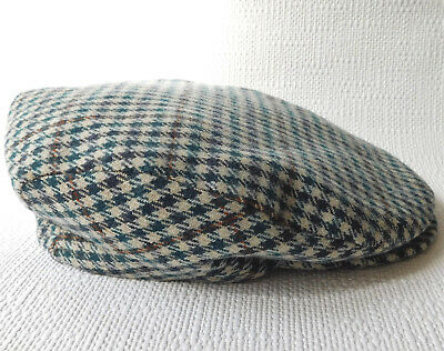 Scottish flat Comfy Cap vintage 1970s tweed cloth country sports ivy cap SMALL