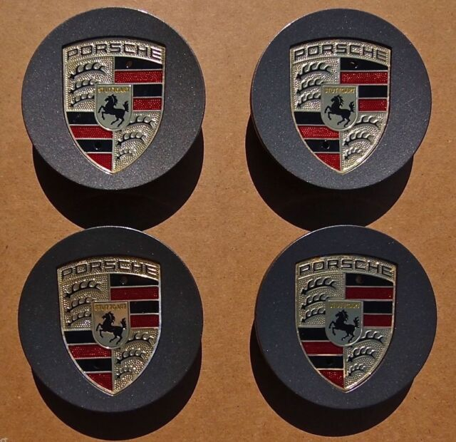 Set 4 Genuine Original OEM Factory Porsche PANAMERA Color Logo Wheel CENTER CAPS