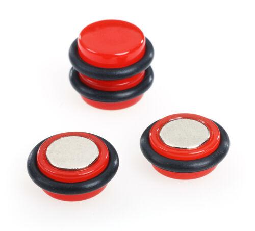 Magnet-Non Piercing Neon Fake Ear Plug Red//fake cheater ear plug earring BOGO !