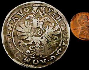 T681-1624-1637-German-VERY-LARGE-Hammered-Silver-28-Stuber-2-3-Thaler