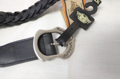"""Harley-Davidson Men/'s Black Leather /""""Ranger Woven/"""" Belt XXL 98480-95VM"""