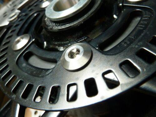 Kawasaki Z900RS 2018-2020 titane avant et arrière Disque de frein Rotor auquel Boulon Pack
