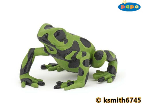 Papo grenouille verte solide Jouet en plastique Wild Pond Animal Amphibien * NOUVEAU *